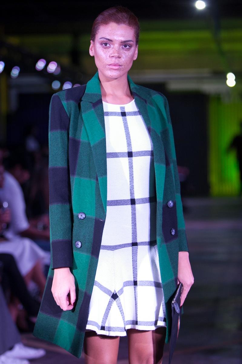 Sea NY coat, £705; Alice + Olivia dress, £295
